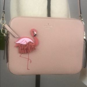 Kate Spade Pink Flamimgo Crossbody Shoulder Bag